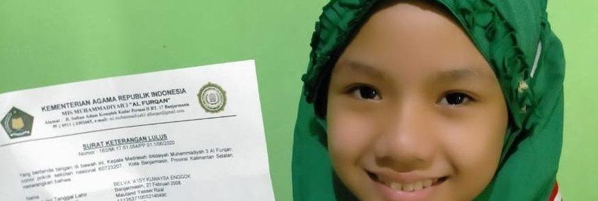 Dai Kecil Ini adalah Siswa SMP Muhammadiyah 1 Gresik yang Berasal dari Banjarmasin