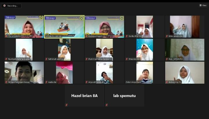 Dua Belas Siswa Spemutu Ikuti Virtual Entrepreneur Presentation of The Week